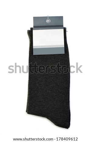 Pack of three pair of socks isolated on a white background - stock photo