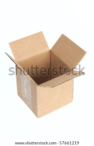 Package box isolated on white background - stock photo