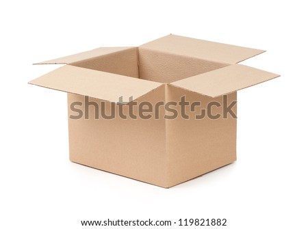 Package Box Opened - stock photo