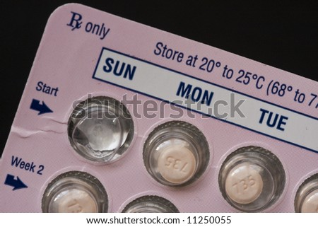Package of daily prescription medicine in blister pack. - stock photo