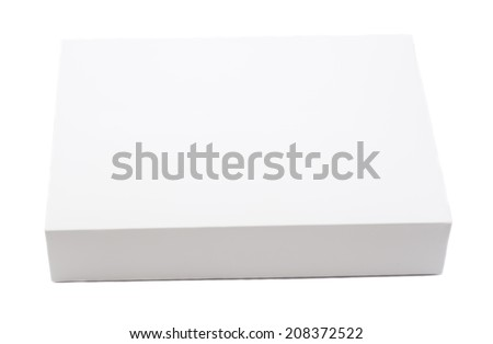 Package white box - stock photo