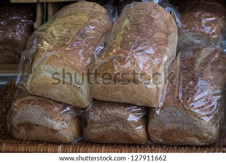 Packages of bread - stock photo