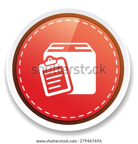 packaging box list - stock photo
