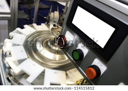 Packaging conveyor in the industry - stock photo