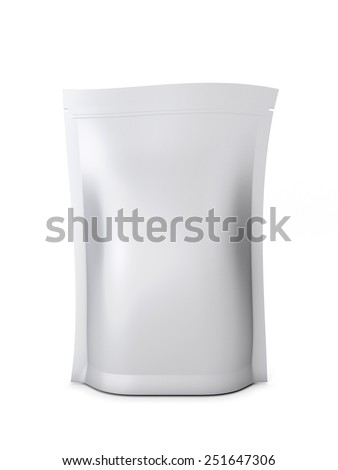 Packaging for bulk products isolated on white background. 3d illustration. - stock photo