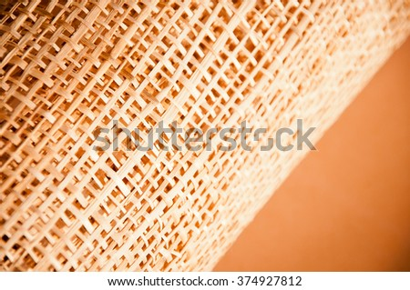 Packaging of straw. Texture
