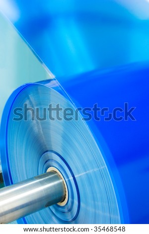 packaging plastic roll - stock photo