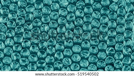 Packaging with air bubbles - blue texture