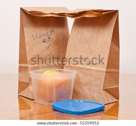 Packing Lunch - stock photo