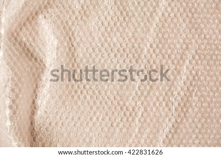 Packing material - plastic bubble film - stock photo