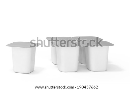packing on a white background - stock photo
