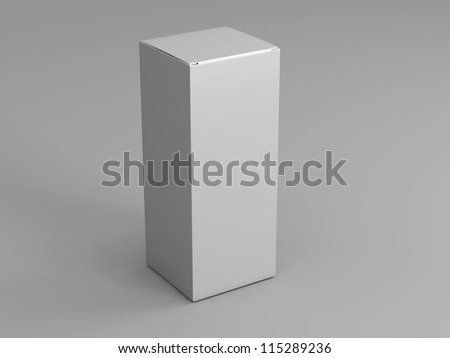 Packing on a white background standing upright one - stock photo