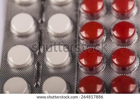 Packs of  medicine pills - stock photo