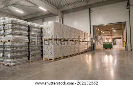 Packs Staropramen and Hoegaarden beer bottles are seen in the Molson Coors Kamenitza brewery warehouse, April 28, 2015, near the city of Haskovo, Bulgaria.Molson Coors bought Kamenitza in 2012.