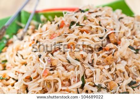 Pad Thai, Thai noodle style - stock photo