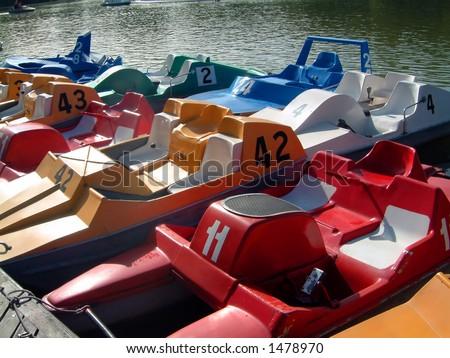 paddle boats - stock photo