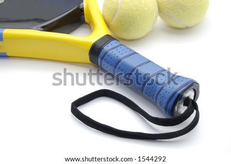 Paddle racket - stock photo