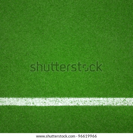 Paddle tennis green hard court texture  with white line can used as soccer or badminton background - stock photo