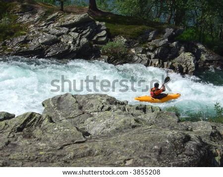 paddling - stock photo