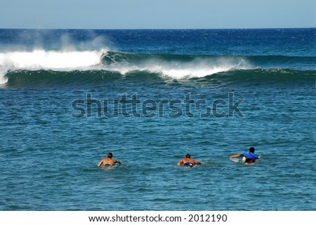Paddling Out - stock photo
