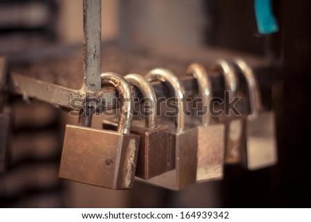 padlock - stock photo