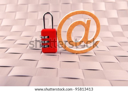 padlock email blue safety internet mail - stock photo