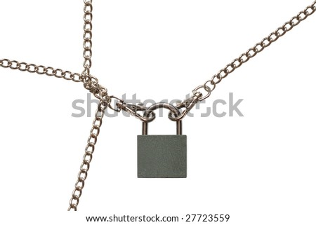 Padlock with chains