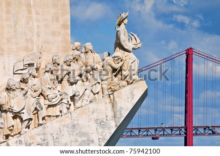 Padrao dos Descobrimentos (Monument to the Discoveries) celebrates the Portuguese who took part in the Age of Discovery, Lisbon, Portugal - stock photo