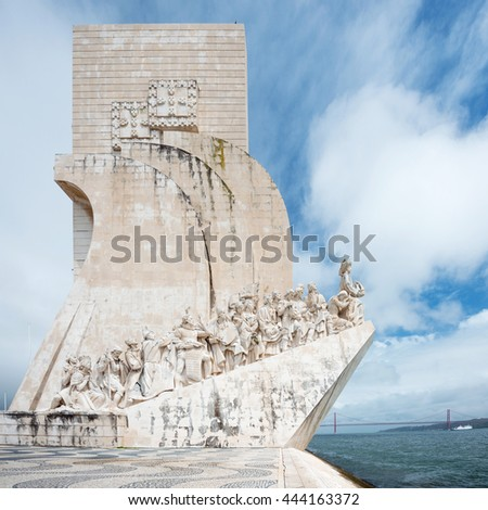 Padrao dos Descobrimentos (Monument to the Discoveries) is a monument on bank of the Tagus River in Lisbon, Portugal