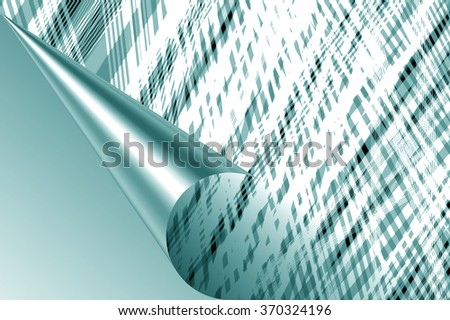 Page curl with shadow on a sheet of paper, design element for advertising and promotional message
