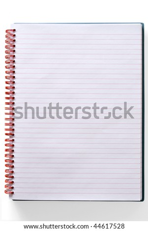 Page in a spiral bound notepad