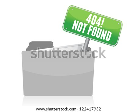 Page not found sign illustration design over white