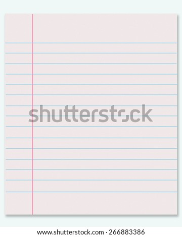 page notebook on a white background - stock photo