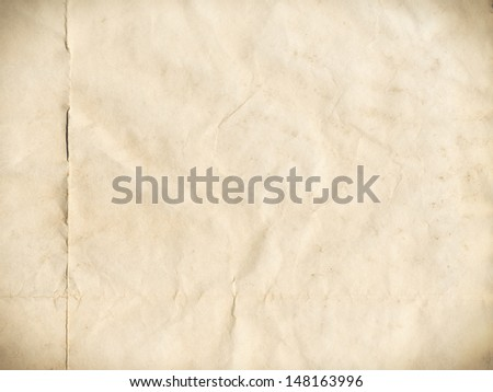 Page of an old book from handmade paper - stock photo