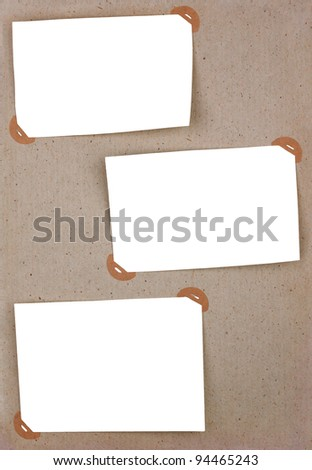 Page of vintage photo album with frames - stock photo