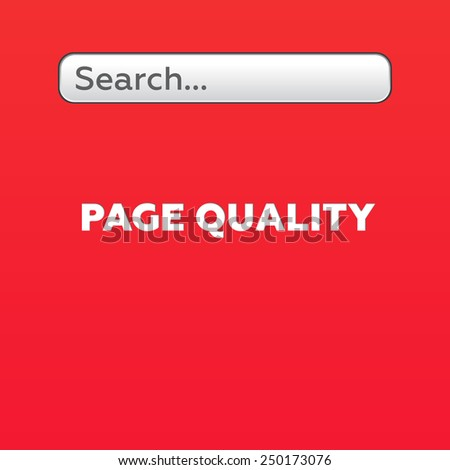 PAGE QUALITY - stock photo