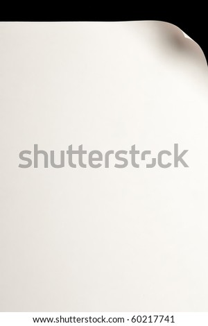 page with curl, space for your text - stock photo
