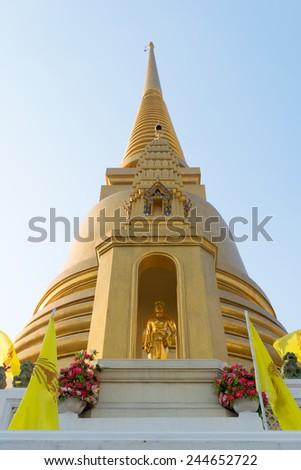 pagoda at Wat Bowonniwet Vihara - stock photo