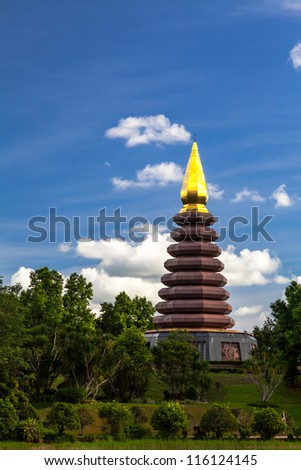 Pagoda in Phu-tok, North-East of Thailand