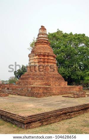 Pagoda of Wat E-Kang, Wiang Kum Kam. - stock photo
