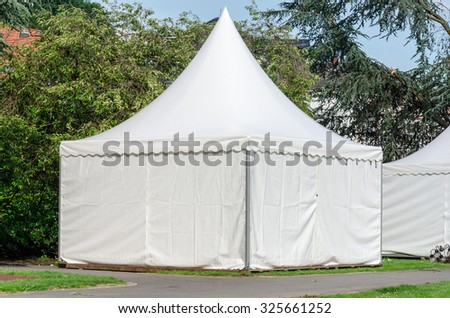 Pagoda tent quickly set up for various occasions as a sales tent, etc.