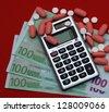 paid medicine - stock photo