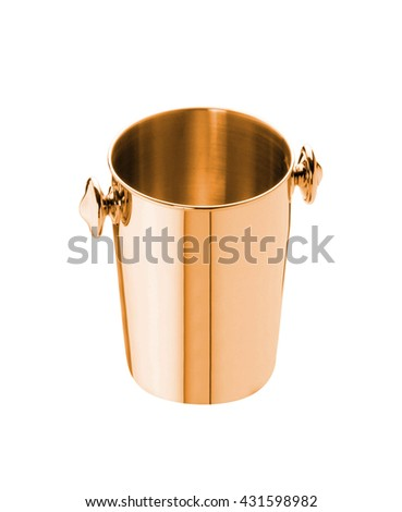 pail isolated on white - stock photo