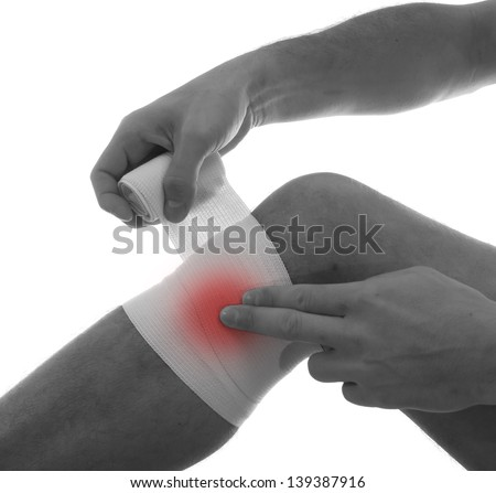 Pain concept. Isolated on white