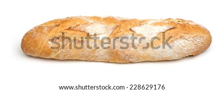 Pain de campagne, longue. French artisan bread loaf.
