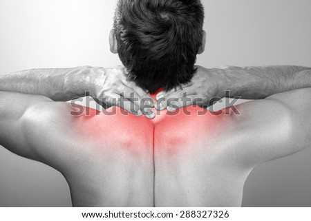 Pain in the neck - stock photo