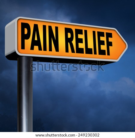 pain relief pain killer against chronic back pain or migraine attact  - stock photo