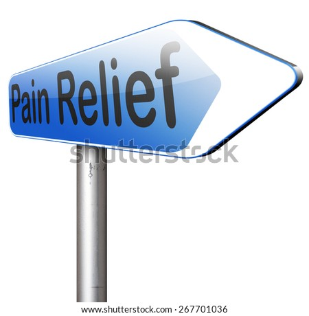 pain relief pain killer to manage chronic pains by migraine  - stock photo