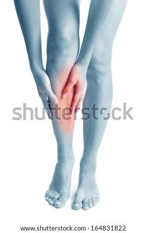 Pain. Sports trauma. - stock photo