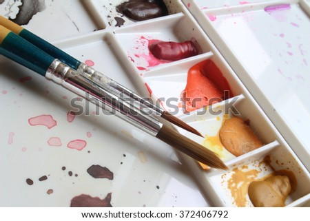 paint brush - stock photo